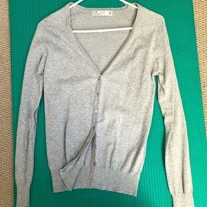 Zara Cardigan Sweater Gray